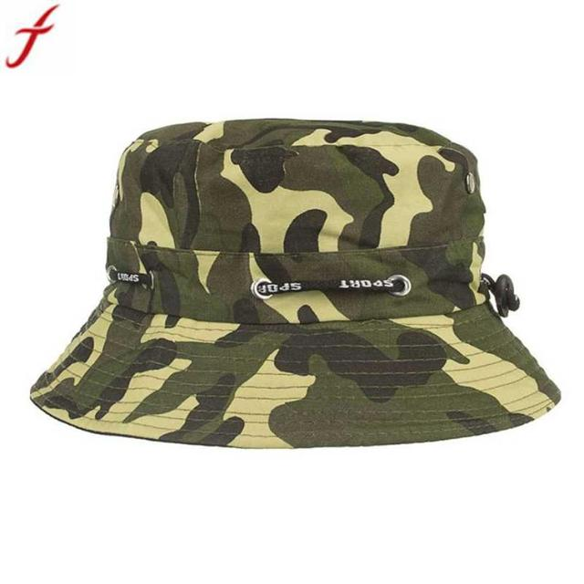 9b05d767b27 2018 Summer Protection Bucket Hat For Men Adjustable Camouflage Boonie Hats  Army Mens Fisherman Hip Hop Hat