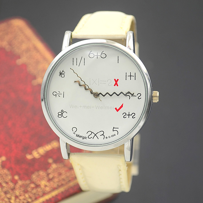 Fashion Wrist Watch Girl Woman Unisex Lady Children Cute Funny Arithmetic Wristwatch Hour Wholesale Price Good