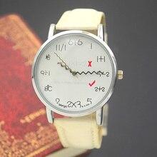 Mode Montre-Bracelet Fille Femme Unisexe Dame Enfants Mignon Drôle Arithmétique Montre-Bracelet Heure Prix de Gros de Bonne Qualité