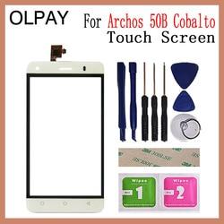 OLPAY Telefoon Front Glas Voor Archos 50B Kobalt Touch Screen Glas Digitizer Panel Lens Sensor Gereedschap Lijm + Doekjes