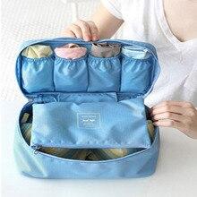 Travel Storage Bags Lady Toiletries cosmetic Make up Cloth Bra organization  Weekend Overnight Underwear Accessories Supplie 18bef78e46f64