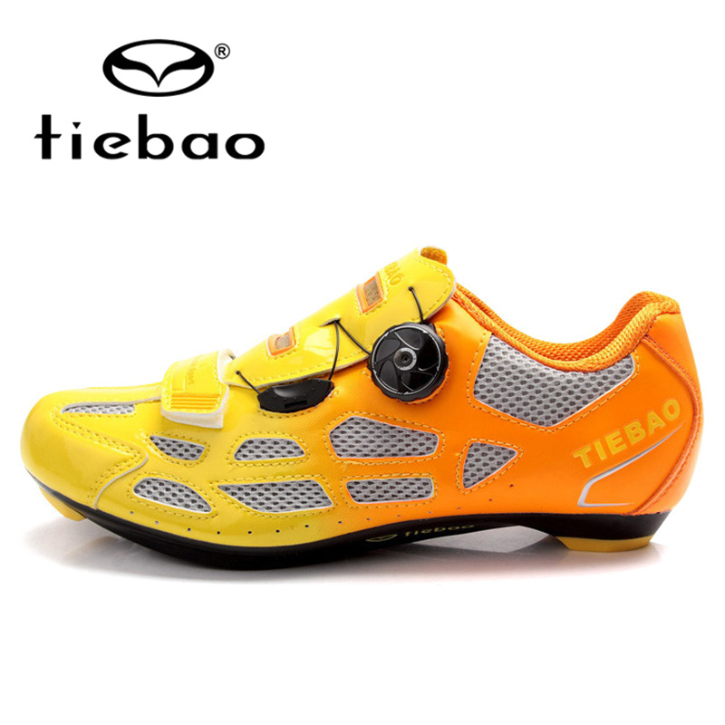 TIEBAO Professional Road Bike Cycling Shoes Men Women Athletic Shoes Breathable Racing Bicycle Training Sports Shoes zapatillas tiebao e1018c professional kids indoor football boots turf racing soccer boots training football shoes