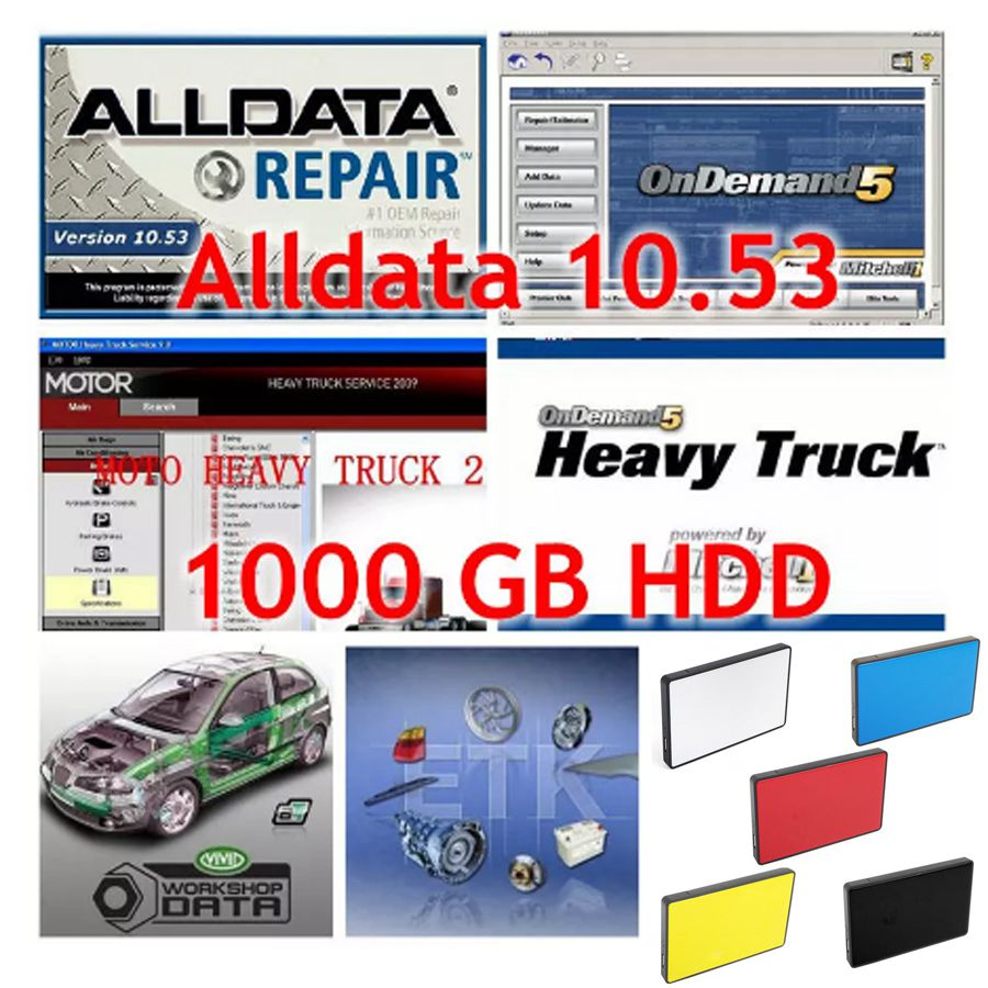 2018 All data Auto repair Software Alldata 10.53 alldata and mitchell on demand 2015 work for almost all vehicles Vivid Workshop 2018 newest alldata 10 53 all data auto repair software alldata mitchell on demand 2015 elsawin vivid workshop alldata 1tb hdd