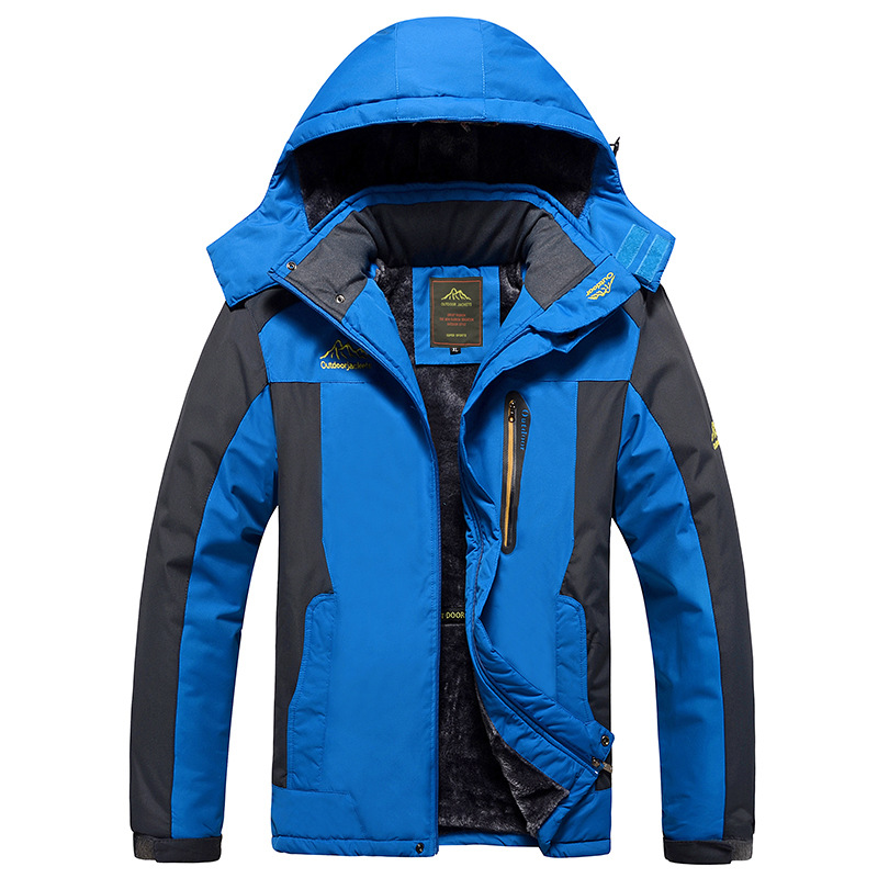 Men&Women Thicken Outdoor Jacket Softshell Fleece Male Jacket Outdoor Sport Hiking Camping Trekking Large Rain Waterproof Jacket(China)