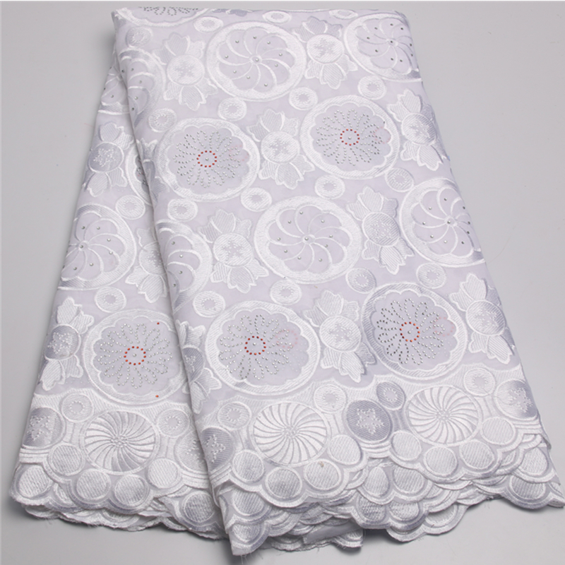 Retail cheap white african swiss voile lace fabric high quality ...