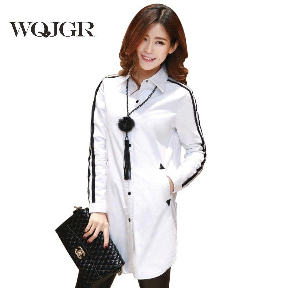 WQJGR 2019 moteriškos palaidinės marškiniai iš 100% medvilnės - Moteriški drabužiai
