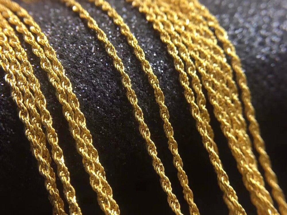 RINYIN Fine Jewelry Genuine 18 K Oro Giallo Collana a Catena Intrecciata Singapore Timbrato Au750 16 18 PolliciRINYIN Fine Jewelry Genuine 18 K Oro Giallo Collana a Catena Intrecciata Singapore Timbrato Au750 16 18 Pollici