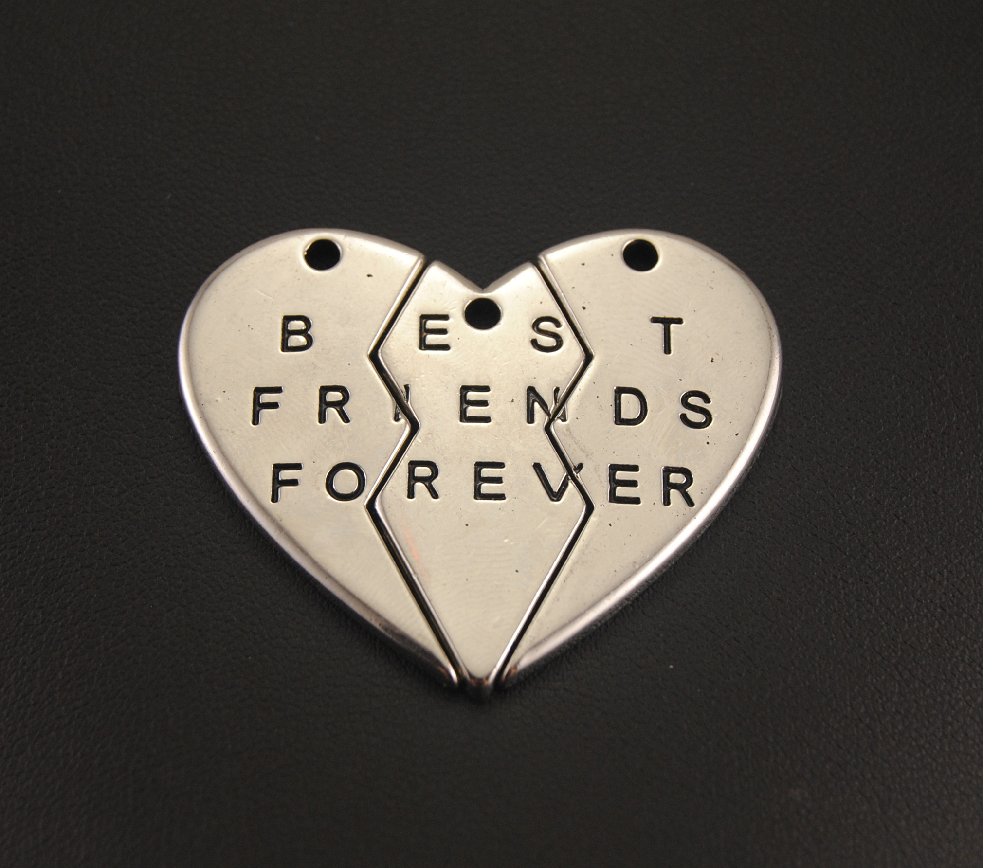 1 set best friends forever broken hearts split hearts jigsaw
