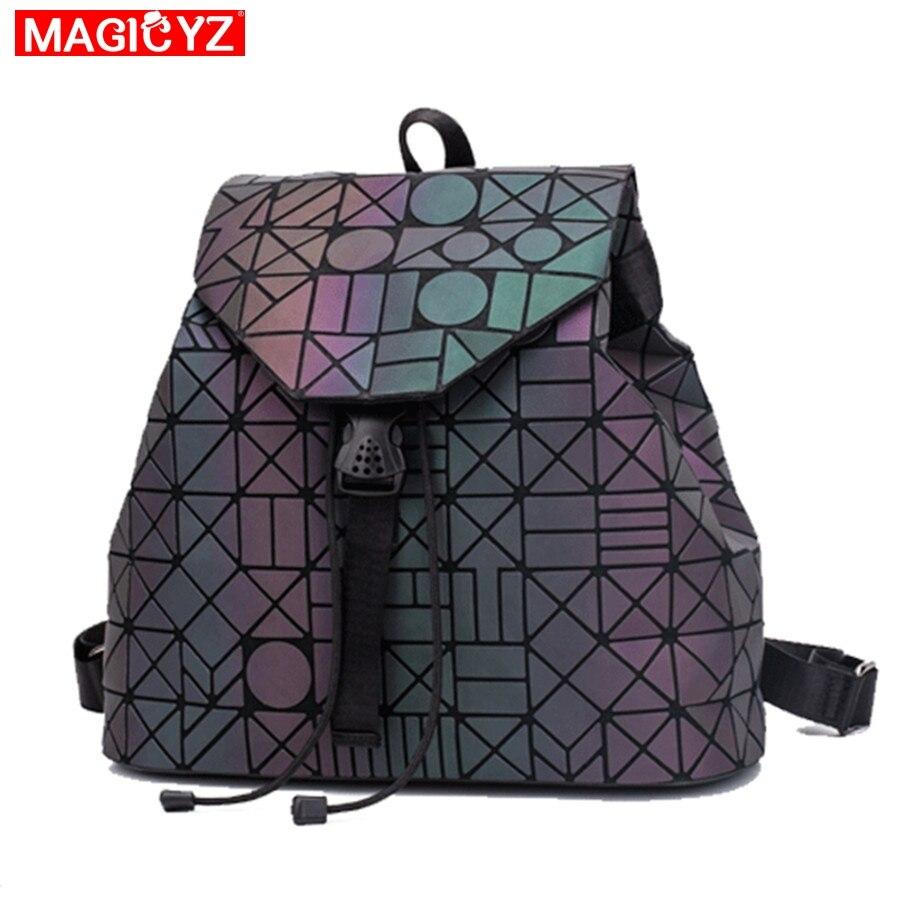 Magicyz Laser Geometrische Leucht Frauen Rucksack Schule Klapp Student Schule Taschen Für Teenager Mädchen Große Kapazität Sac A Dos A4 Ausgezeichnet Im Kisseneffekt Herrentaschen