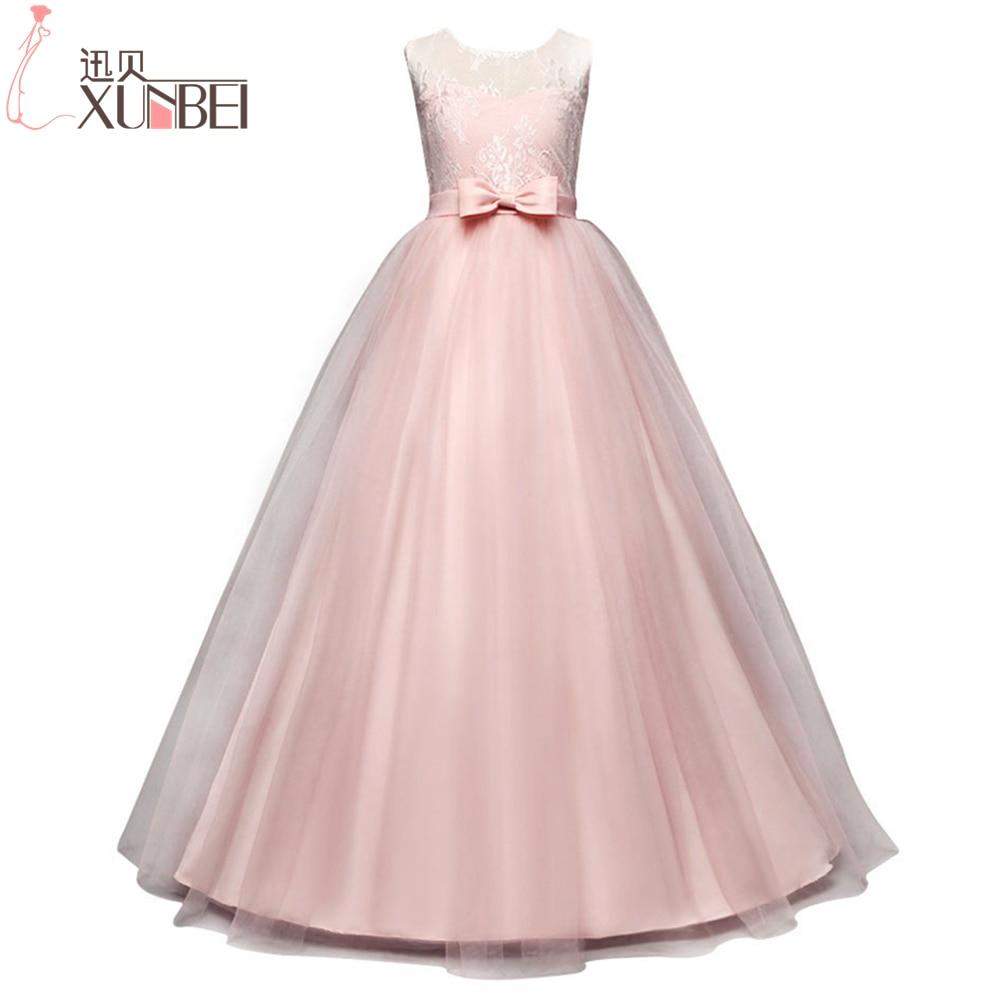 Hot Seller Lovely Pink Lace Flower Girl Dresses 2018 Pageant Dresses ...