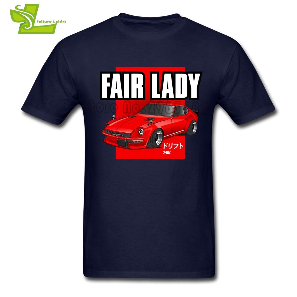 JDM <font><b>240z</b></font> Fair Lady T Shirt Men Summer Cool Tee Adult Newest Big Clothes Printed Classic Comfortable Teenboys Tee Shirt image