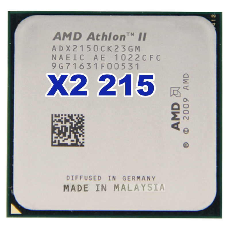 Original AMD Athlon II X2 215 2.4 GHz Dual-Core Socket AM3 AM2+ Desktop CPU Processor