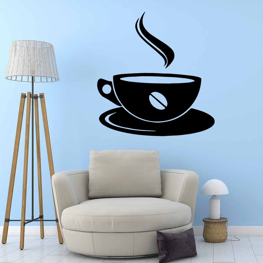 Modern coffee Removable Pvc Wall Stickers Sticker Art Decals