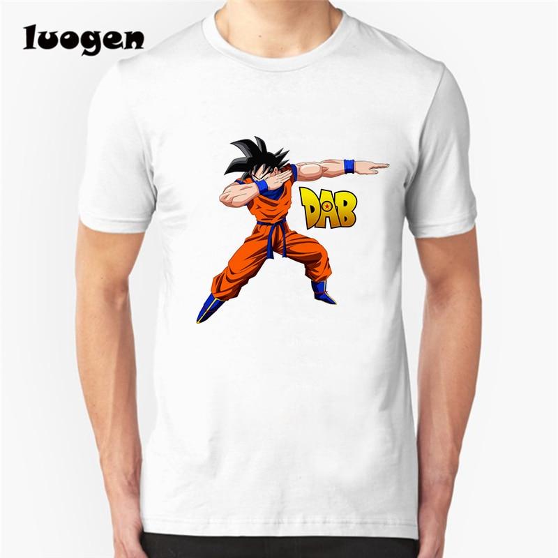 Men Dragon Ball Z Vegeta Son Goku Dab Printed T Shirt Anime Camiseta Short Sleeve O-neck Cool Tops Tee T-Shirt Hipster