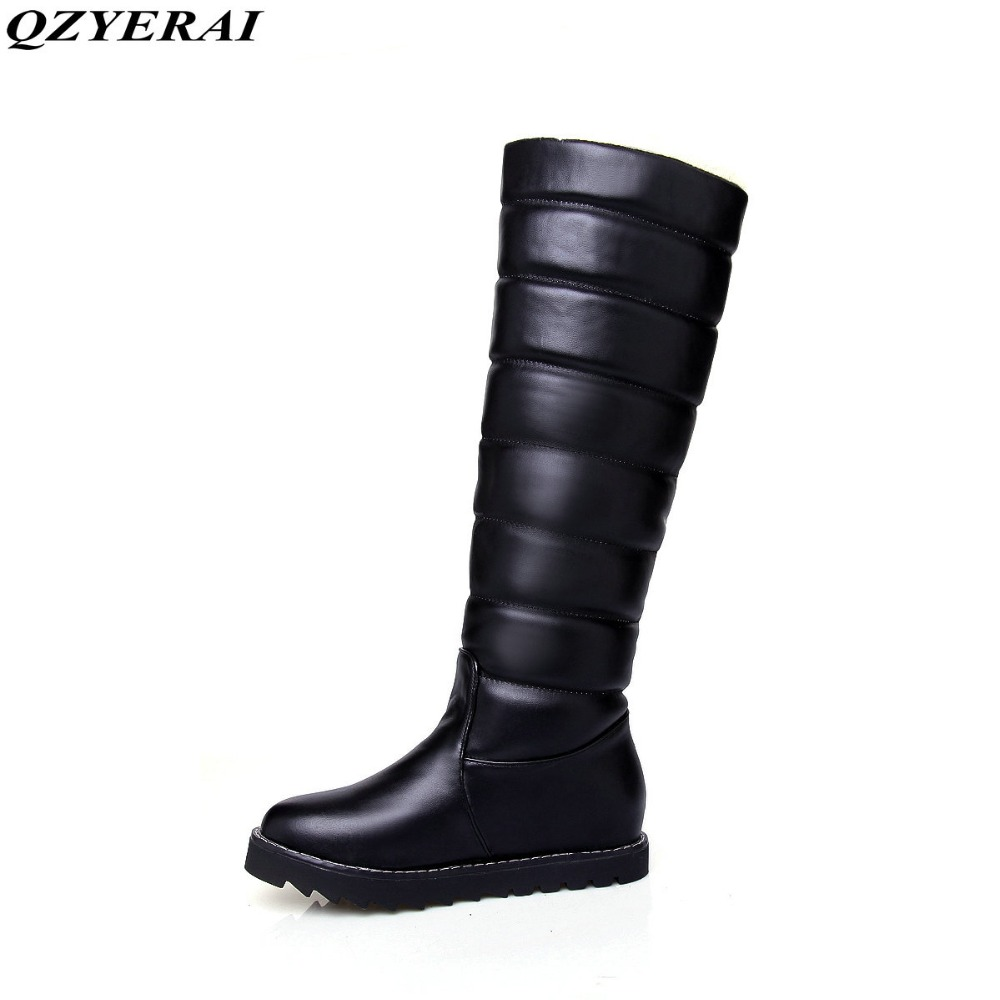 QZYERAI Winter fur warmth snow boots waterproof female boots suitable for the winter temperatures of -30 degrees in Russia effects of exercise in different temperatures in type 1 diabetics