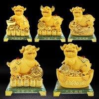 Китайский приносят удачу и благосостояние Свинья с машущими руками золотая свинья фэн шуй китайский притягивающий богатство свиней офисны...