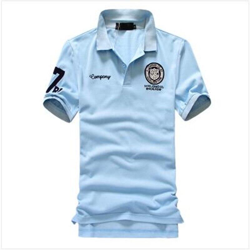 New 2019 Summer Men's Brand   Polo   Shirt Men Cotton Short Sleeve Shirt jerseys Plus Size M-5XL