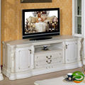 White TV cabinet solid wood TV cabinet