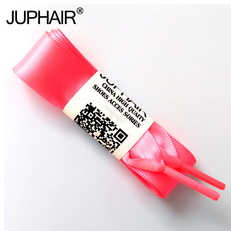 JUP1-12 Pairs Peach Red Fashion Fantastic Princess Colorful Flat Silk Ribbon Shoelace Princess Colorful Lady Laces Free Shipping weiou fashion flat silk ribbon shoelaces princess sneaker colorful sport shoes laces with 2cm width metal aglets drop shipping