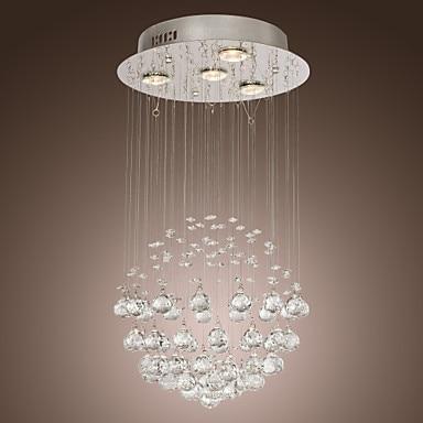 lampadina inclusa 4 luci lampadario di cristallo di lusso moderno gu10 per la camera