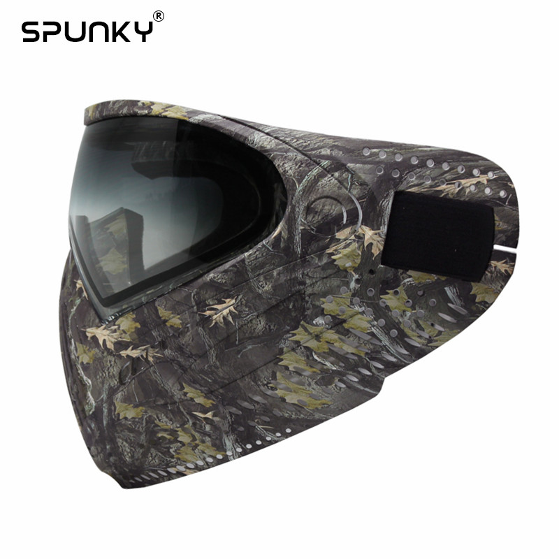 Image 3 - GREAT Leaves Camo Tactical PAINTBALL MASK Airsoft Mask with DYE I4 Thermal Lens-in Paintball Accessories from Sports & Entertainment