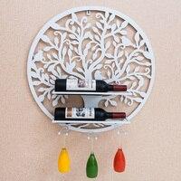 Круглые металлические стеллажи Кубок висит декоративные Стекло крючок номер Книги по искусству держатель вина