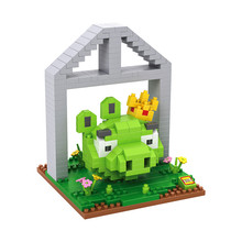 LOZ 9519 Bird Series Bomb Pig Kig of Pig Educational Diamond Bricks Minifigures Building Block Compatible with Legoe