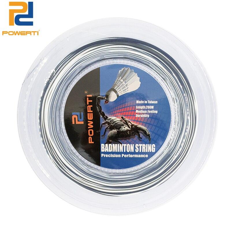 POWERTI 200m Reel Badminton Racket String 0.7mm Double Training Cute Badminton Racquet Durable Gym String