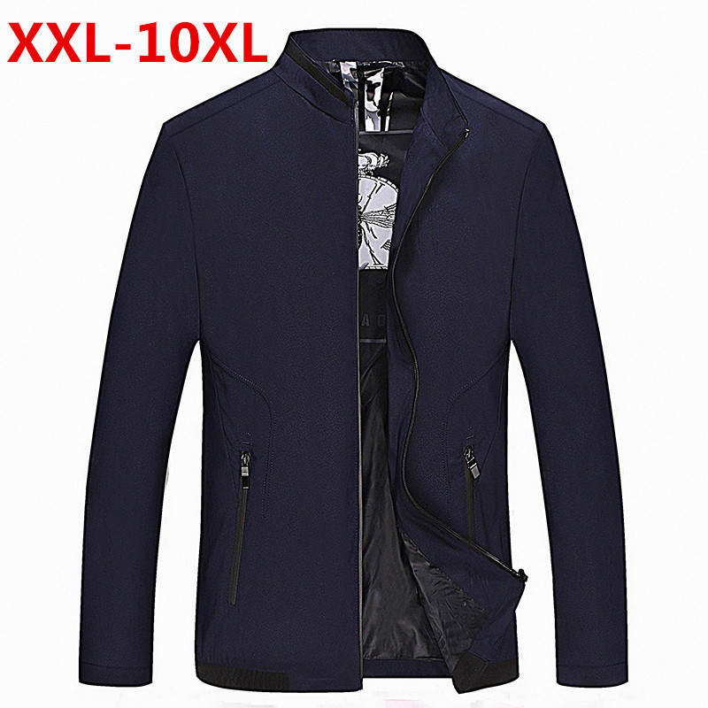 2017 New 10XL 9XL 8XL 7XL 6XL Arrival Spring Autumn Men Jackets Solid Fashion brand Coats Male Casual Slim Jacket Men Outerdoor ...