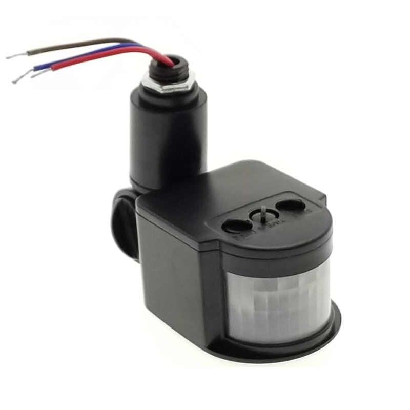 LED PIR Sensor de movimiento infrarrojo interruptor de luz de inundación Cuerpo Humano sensor infrarrojo encendido/apagado 110 V 220 V 180 grados de rotación Detector