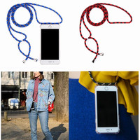 20pcs Crossbody Necklace Cord Case Rope Protective Phone Case for iPhone 6 7 Plus 8 Plus 5 5S SE XR XS MAX X XS dropshipping