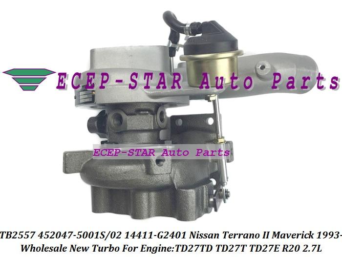 TB2557 452047 452047-5001S 452047-0001 452047-0002 14411G2401 14411-G2401 Turbo For Nissan Terrano II Maverick TD27T TD27TD 2.7L