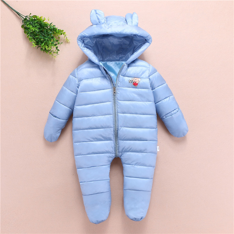 Newborn Baby Rompers Toddle Boy Girl Jumpsuit Warm Baby Costume Autumn Winter Infant Baby Overcoat Kids Jumpsuit Romper Baby new 2016 autumn winter romper infant clothing baby girl cotton rompers kids cartoon monkey jumpsuit newborn overall baby costume
