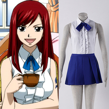 JP Anime Fairy Tail Cosplay Costume Normal Clothes Fairy Tail Guild Erza Scarlet Cosplay Costumes for Sale