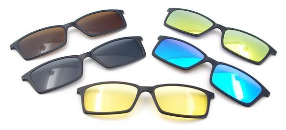 ac7a695d2b Clip de lunettes de soleil magnétiques avec lentilles polarisées colorées  pour 5510