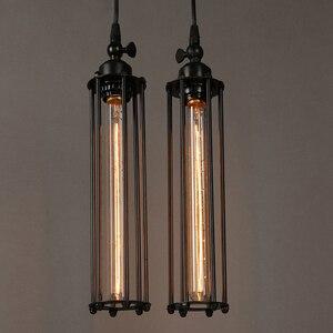 Image 2 - Retro Vintage Pendant Lights Steam Punk Industrial Style Single Head Use Edison Light Bulb hanglamp luminaria pendant lamp