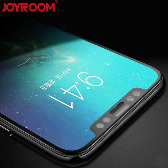 san francisco b8bdc daef1 US $0.98 48% OFF|JOYROOM 3D Curved Soft Edge Tempered Glass for iphone X 10  HD Full Cover Protective Glass-in Phone Screen Protectors from Cellphones  ...