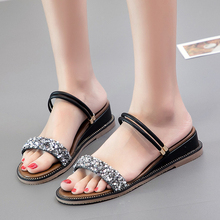 2019 New Fashion Women Sandals Wedges Sandals Green/Black/Apricot Spring/Summer Female Shoes Casual Lady Shoes Woman Footwear 2019 new women platform sandals high heels wedges sandals summer apricot black female shoes casual lady shoes woman footwear