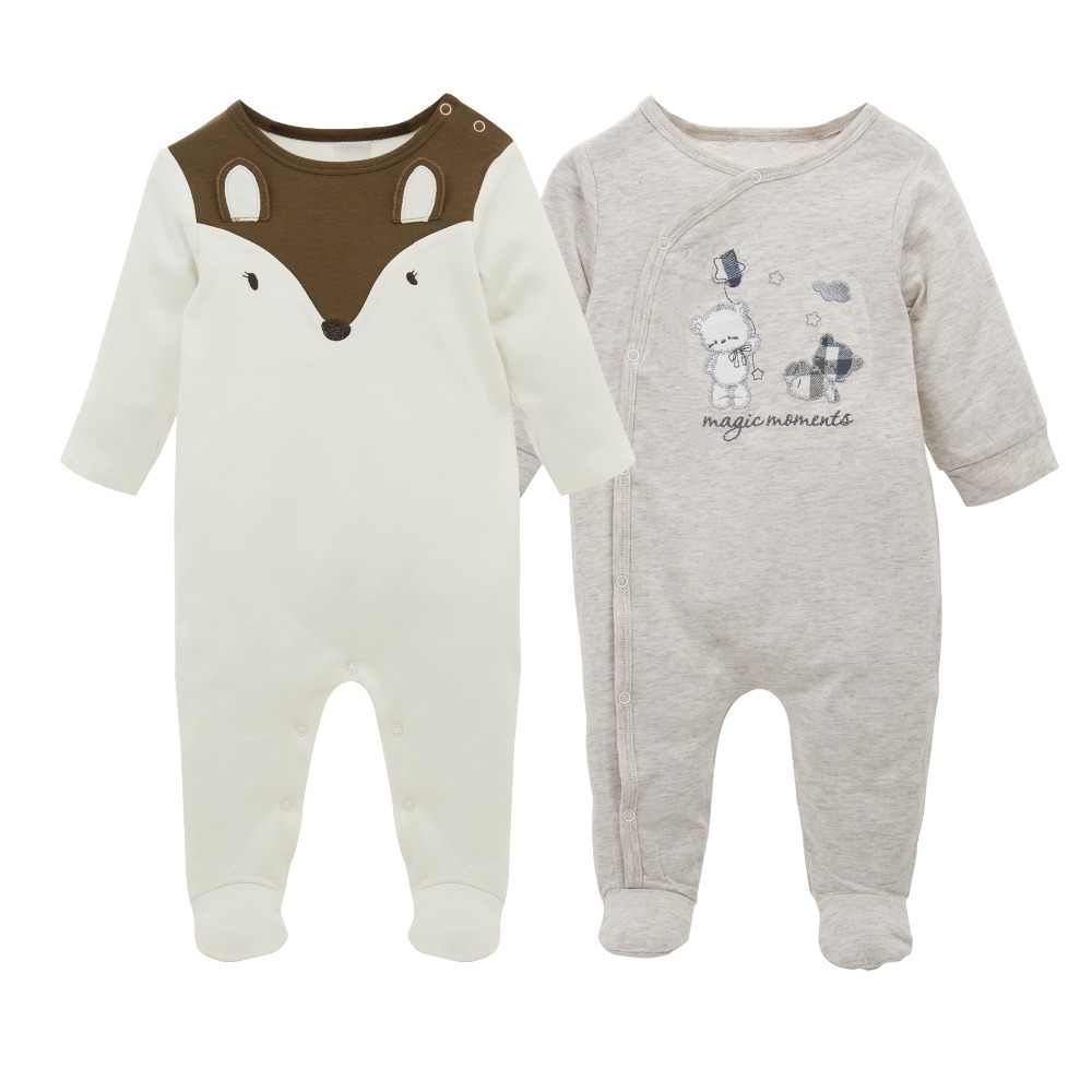 d565c97fdccb ... 2018 Brand Baby Romper 2 pcs lot Long Sleeve Cotton Baby Clothes roupa  de bebes ...