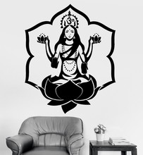 Free Shipping Wall Sticke Ganesh Buddhism Indian Namaste Buddha Om Yoga God For Home Decor