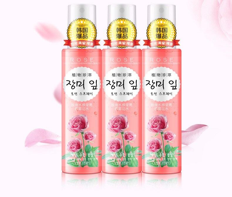 Rose Essência Extrato Rosto Spray de Toners
