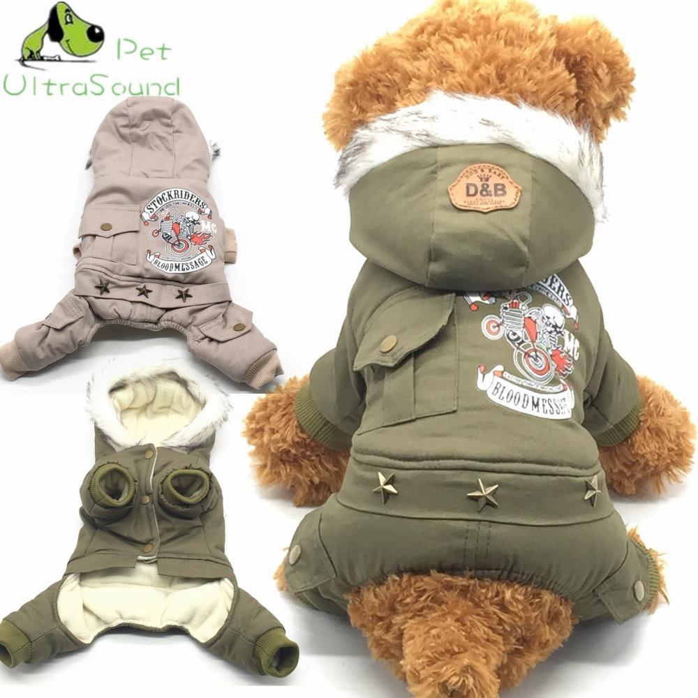 Baru kapas anjing kucing surat anjing dicetak pakaian panas musim sejuk anjing pakaian kot 100% kapas jaket kapas empat kaki pakaian untuk anjing