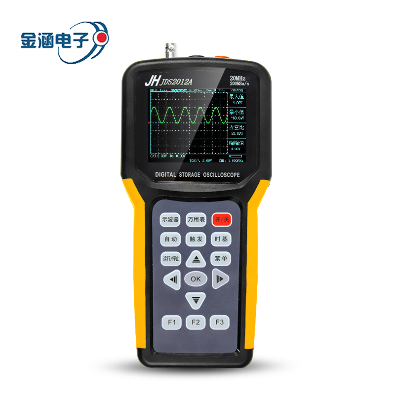 цена на Jinhan JDS2012A Digital Handheld Oscilloscope 20MHz 1CH 200MSa/s Sample Rate Osciloscopio Digital Multimeter 4000 Count AC DC CE