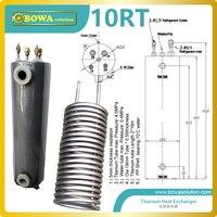 10RT Titanium échangeur de chaleur il PVC-U shell a été testé par mpa pression de l'eau pour s'assurer que l'eau système pas fuite