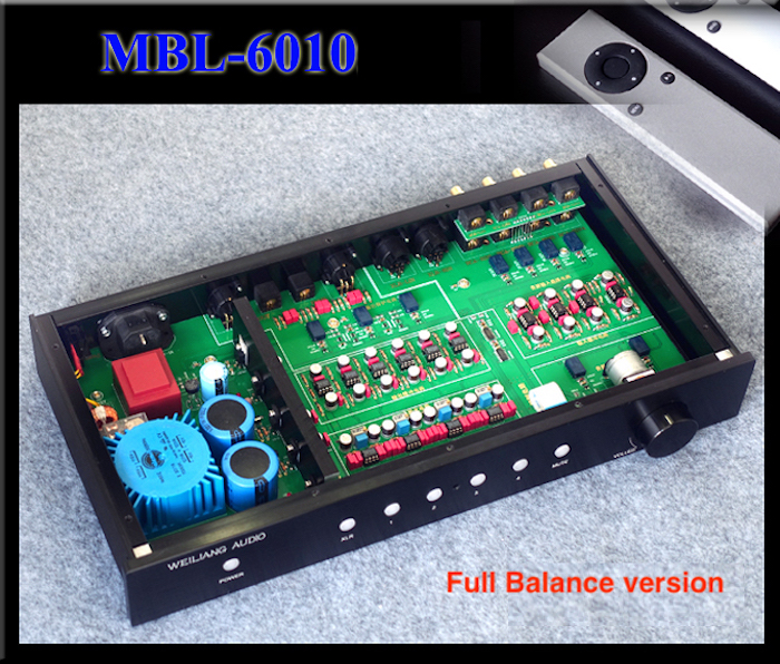 Wailiang Breeze Audio Imitated MBL6010D Pre-Amplifier with Remote Control  HIFI EXQUIS Full balance MBL6010 Preamp