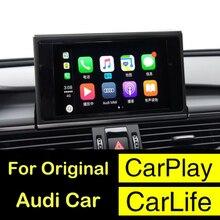 2018 Novo Carro IOS Airplay Da Apple Android Auto CarPlay Caixa Para Audi A3 A4 A5 A6 A7 A8 B9 Q3 q5 Q7 S4 S5 Upgration Tela Original