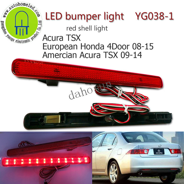 PC X Dahosun LED Rear Bumper Light For Acura TSX For Honda European - Acura tsx bumper