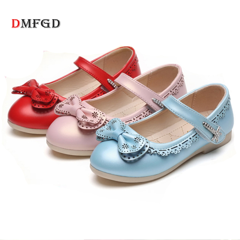 New Grils leather shoes princess shoes hollow bow high quality children dance shoes student formal kids shoes for girl kelme 2016 new children sport running shoes football boots synthetic leather broken nail kids skid wearable shoes breathable 49