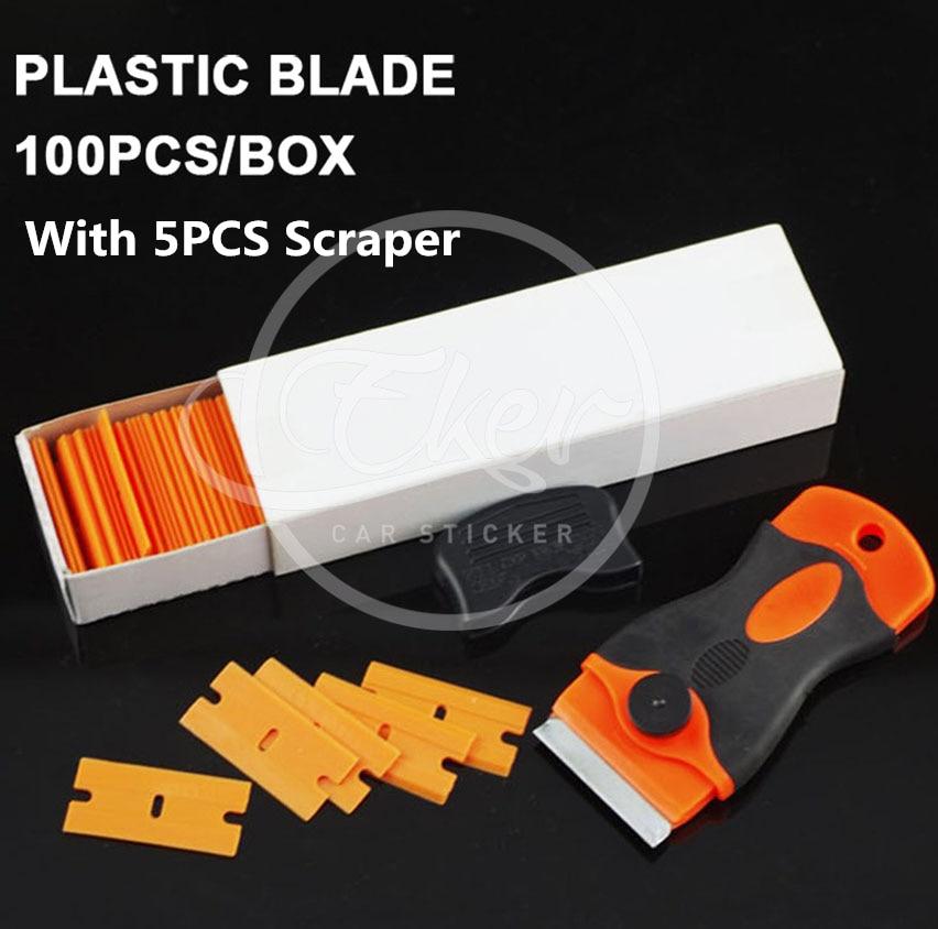 100 Blades Box Imported Plastic Razor Blades Amp 5pcs 4 5cm