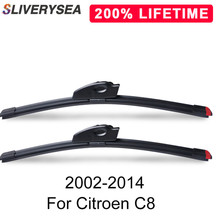 SLIVERYSEA Replace Wiper Blade for Citroen C8 2002-2014 Windshield Windscreen Natural Rubber Replacement